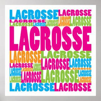 LaCrosse colorido Poster