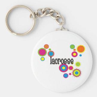 Lacrosse Cool Polka Dots Keychain