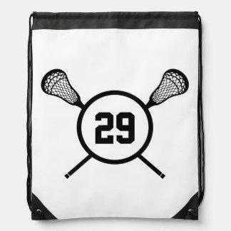 Lacrosse Custom Number back pack Cinch Bag