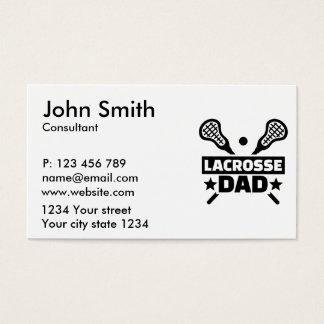 Lacrosse dad business card