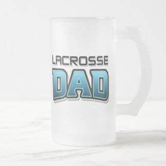 Lacrosse DAD Frosted Glass Beer Mug