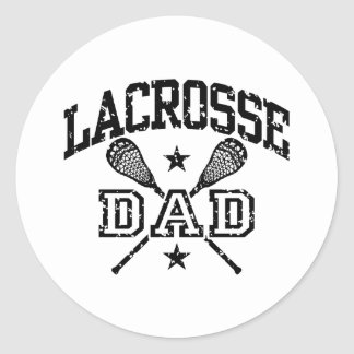 Lacrosse Dad Round Stickers