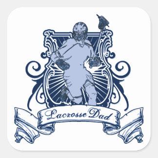 Lacrosse Dad Square Sticker