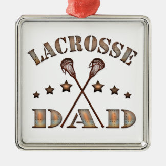 Lacrosse Dad Steampunk Style Metal Ornament