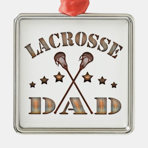 Lacrosse Dad Steampunk Style Metal Ornament