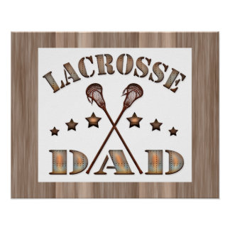 Lacrosse Dad Steampunk Style Poster Print