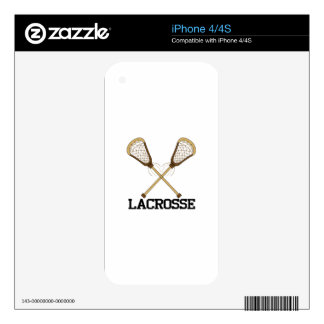 Lacrosse Decal For iPhone 4