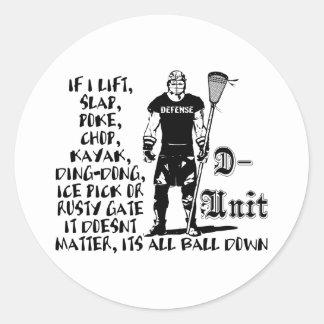 Lacrosse Defense DUnit Checkspsd Sticker