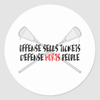 Lacrosse Defense LaxOffDefBlack Sticker