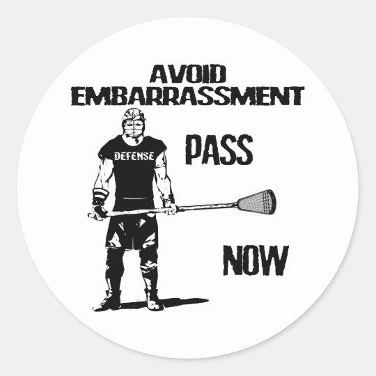 Lacrosse Defense Pass Sticker
