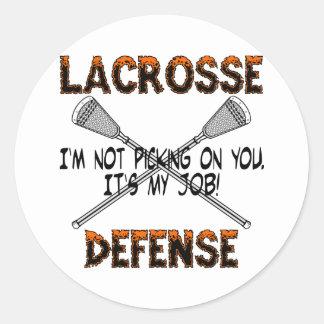 Lacrosse Defense Picking Sticker