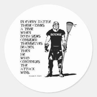Lacrosse Defense Quote1 Sticker