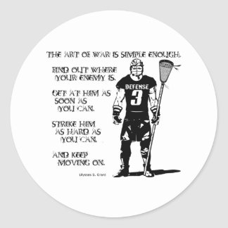 Lacrosse Defense Quote2 Sticker