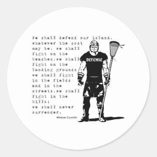 Lacrosse Defense Quote3 Sticker