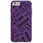 Lacrosse del amor de la púrpura I Funda De iPhone 6 Plus Tough