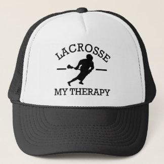 lacrosse design trucker hat