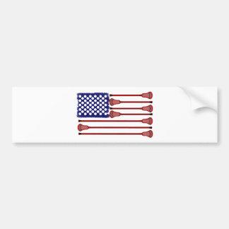 Lacrosse Designs AmericasGame2 Bumper Sticker Car Bumper Sticker