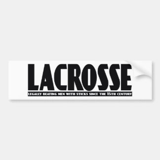 Lacrosse Designs BeatingMen Bumper Sticker