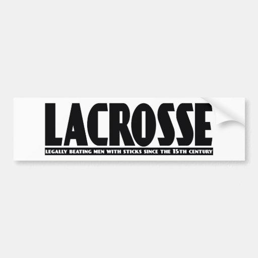 Lacrosse Designs BeatingMen Bumper Sticker