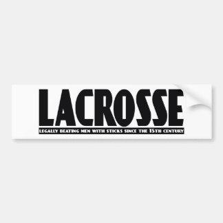 Lacrosse Designs BeatingMen Bumper Sticker Car Bumper Sticker