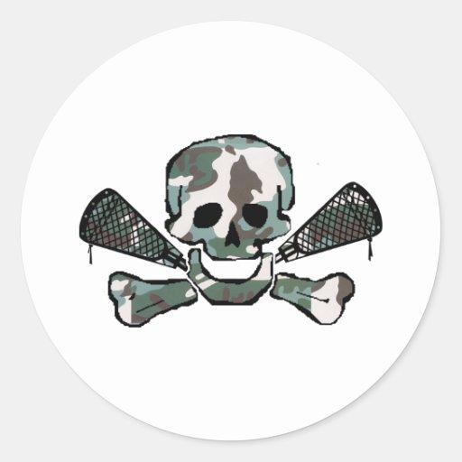 Lacrosse Designs CamoSkull Sticker