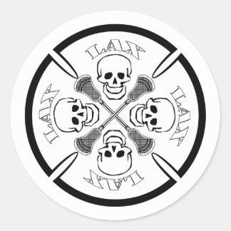 Lacrosse Designs Cross Sticker