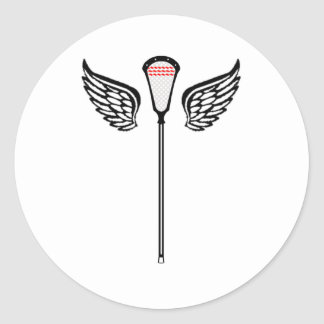 Lacrosse Designs CrosseWings Sticker