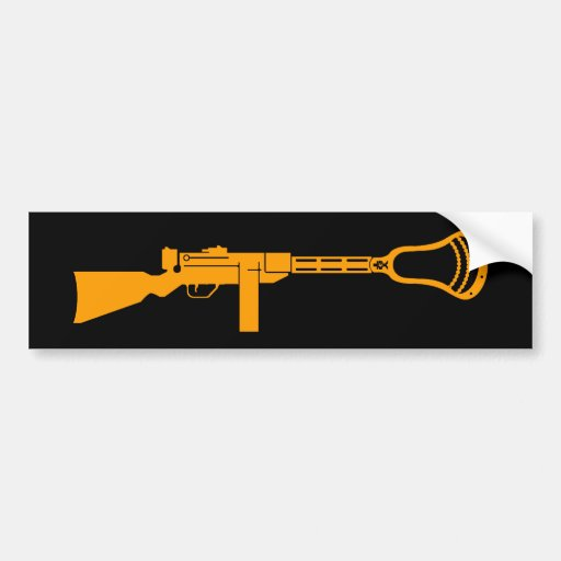 Lacrosse Designs Gun Bumper Sticker