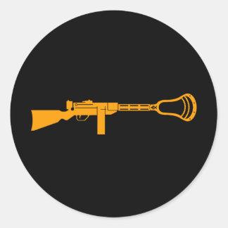 Lacrosse Designs Gun Sticker