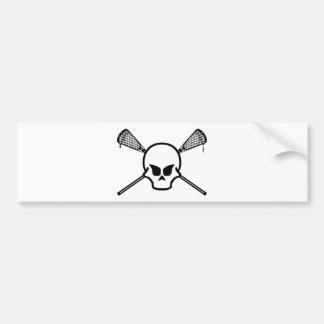 Lacrosse Designs LaxOtherSkullWhite Bumper Sticker Car Bumper Sticker