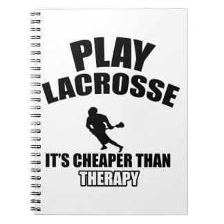 Lacrosse designs note books