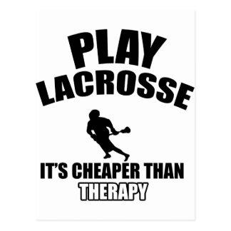 Lacrosse designs postcard