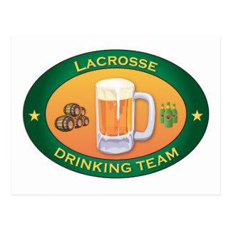 Lacrosse Drinking Team Post Card