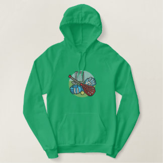 Lacrosse Embroidered Hooded Sweatshirts