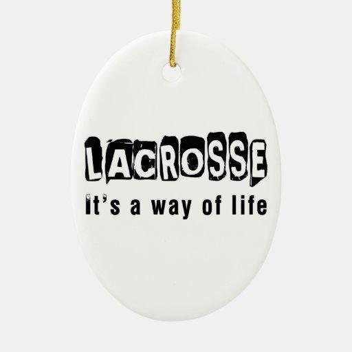 LaCrosse es una manera de vida Ornamento Para Arbol De Navidad