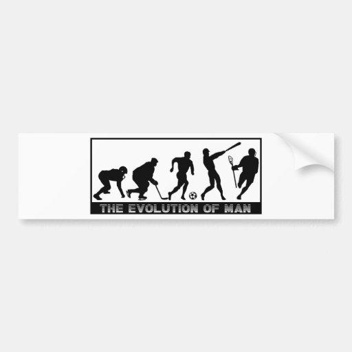 Lacrosse Evolution Bumper Sticker