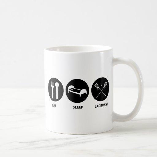 Lacrosse Evolution Classic White Coffee Mug
