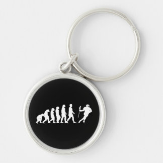 Lacrosse Evolution Silver-Colored Round Keychain