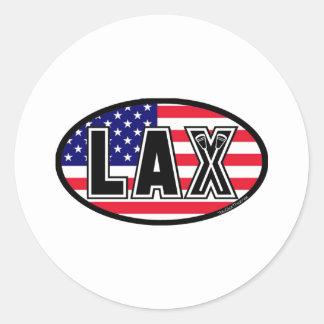 Lacrosse Flag America Sticker