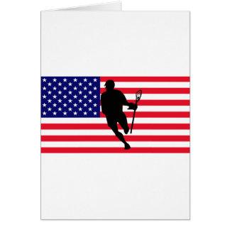 Lacrosse Flag IRock America Card