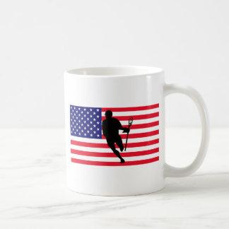 Lacrosse Flag IRock America Coffee Mug