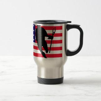 Lacrosse Flag IRock America Travel Mug