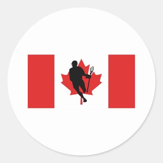 Lacrosse Flag IRockCanada Sticker