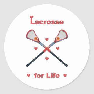 Lacrosse For Life Classic Round Sticker