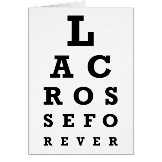 Lacrosse Forever Greeting Card