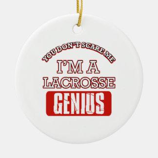 lacrosse genius ceramic ornament