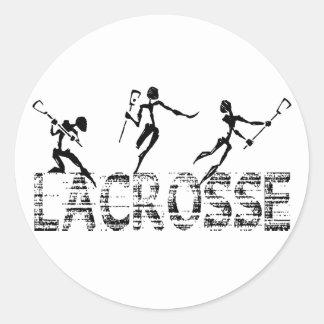 Lacrosse Gift Classic Round Sticker