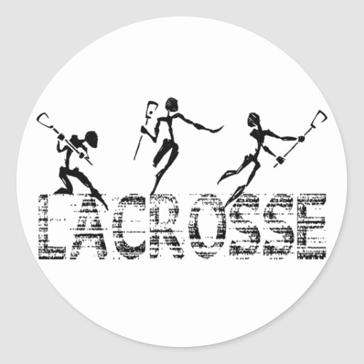 Lacrosse Gift Round Stickers