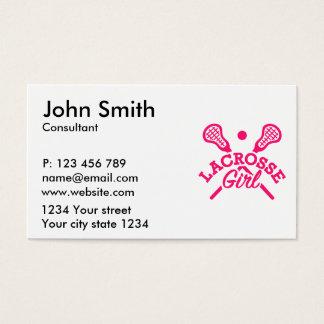 Lacrosse girl business card