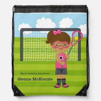 Lacrosse girl drawstring backpack